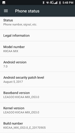 leagoo kiicaa mix os ui and software 63 image