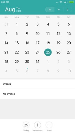 software calendar image