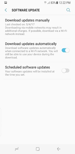 samsung galaxy s8 and s8 duos cloud and accounts accessibility general management software update about phone 21 image