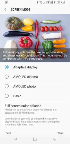 samsung galaxy s8 and s8 duos connections sound notifications and display settings advanced features 13 image