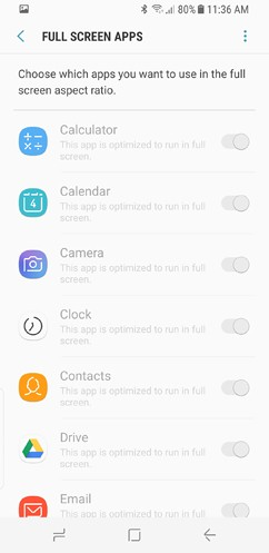 samsung galaxy s8 and s8 duos connections sound notifications and display settings advanced features 22 image