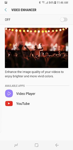 samsung galaxy s8 and s8 duos connections sound notifications and display settings advanced features 40 image
