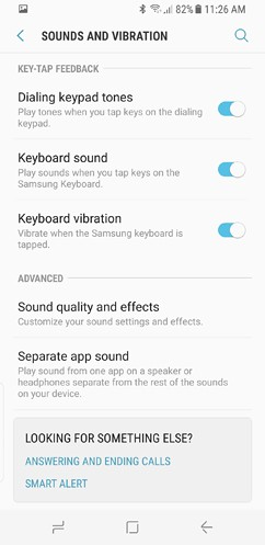 samsung galaxy s8 and s8 duos connections sound notifications and display settings advanced features 5 image