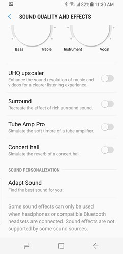 samsung galaxy s8 and s8 duos connections sound notifications and display settings advanced features 7 image