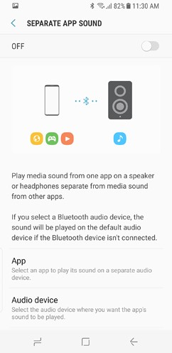 samsung galaxy s8 and s8 duos connections sound notifications and display settings advanced features 9 image