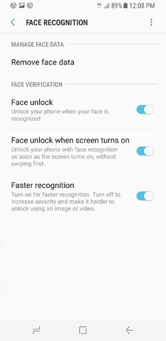samsung galaxy s8 and s8 duos device maintenance apps lock screen and security fingerprint 17 image