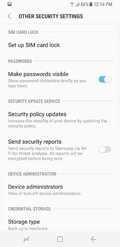 samsung galaxy s8 and s8 duos device maintenance apps lock screen and security fingerprint 24 image